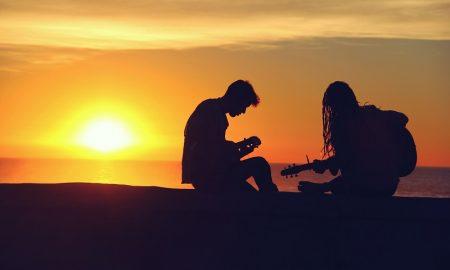 música - puesta de sol