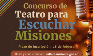 Concurso de Teatro para escuchar Misiones - Convocatoria