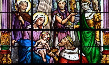 Reyes Magos - vidriera
