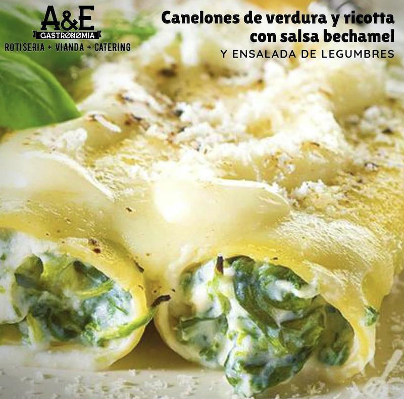 gastronomía italiana - Canelones De Verdura