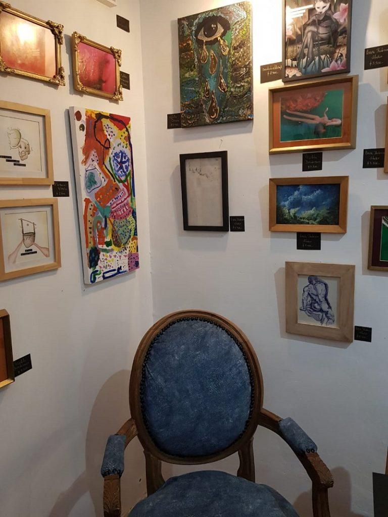 Galería de arte - Vista De Cerca De Las Obras