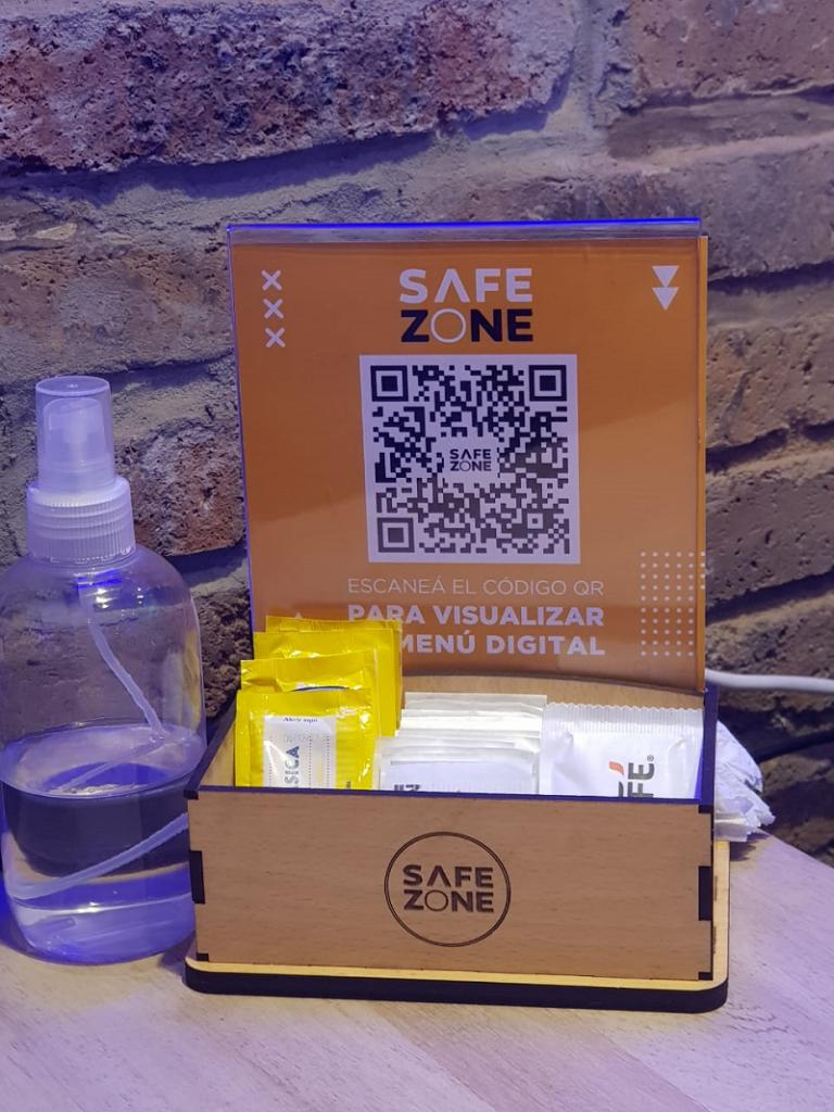 Safe Zone - Menu Qr Y Alcohol En Gel