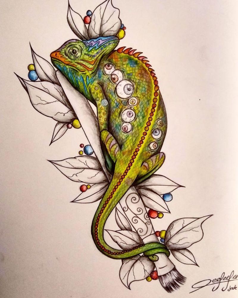 curso de dibujo - Iguana