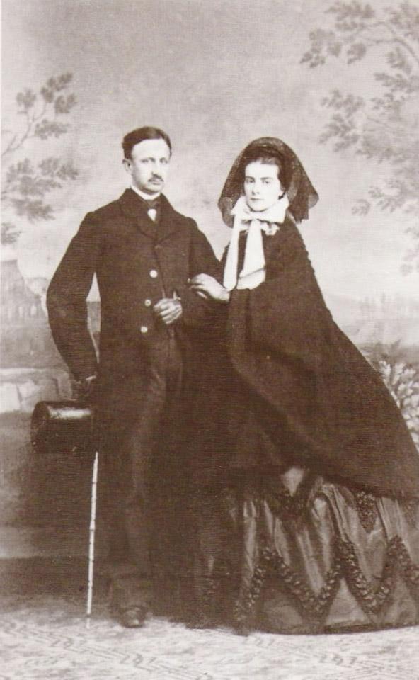 Francesco Ii E Sua Moglie Maria Sofia Nel 1865