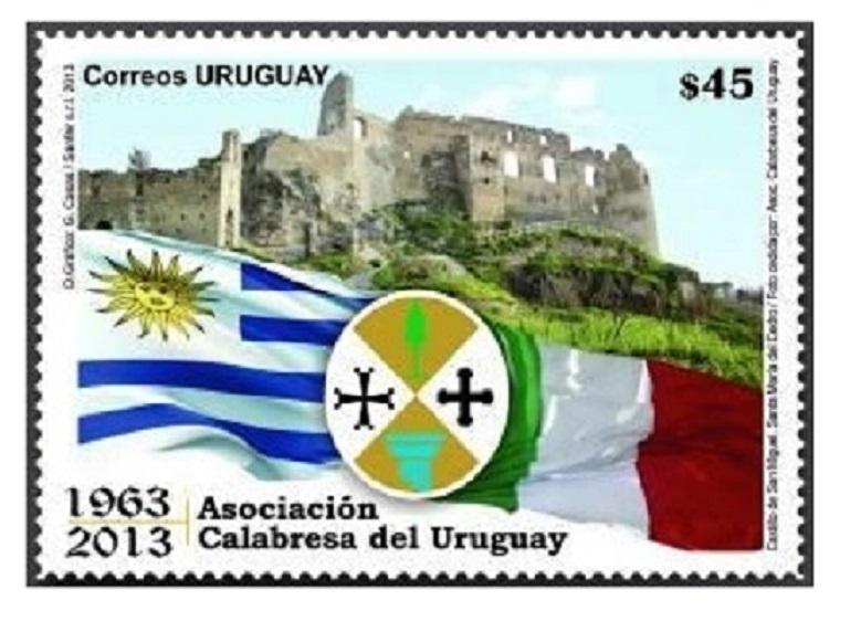 Asociación Calabresa - Sello Correo Uruguayo Asociacion Calabresa