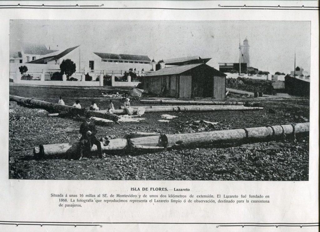 Inmigración italiana en Montevideo - Foto De Diario Antiguo Inmigrantes En Isla De Flores