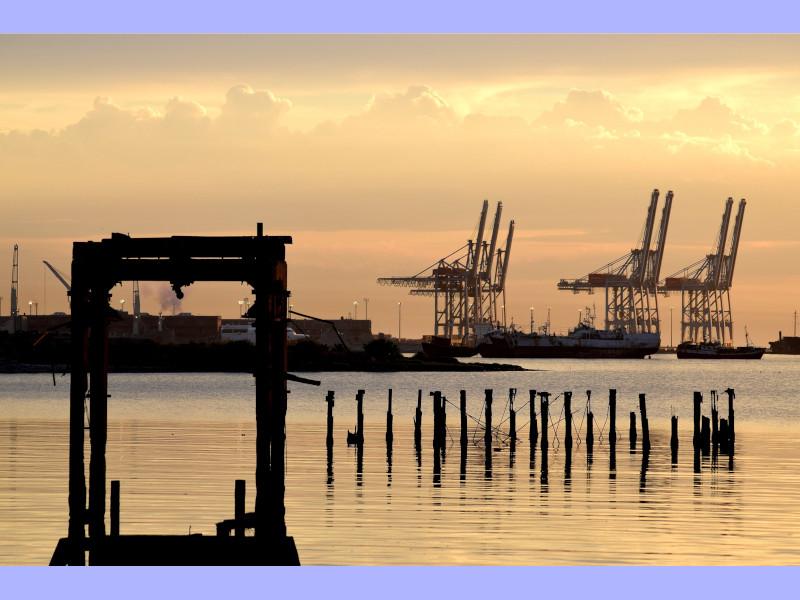 Palabras - Vista Del Puerto De Montevideo