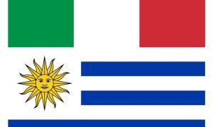Relaciones - Banderas De Uruguay E Italia