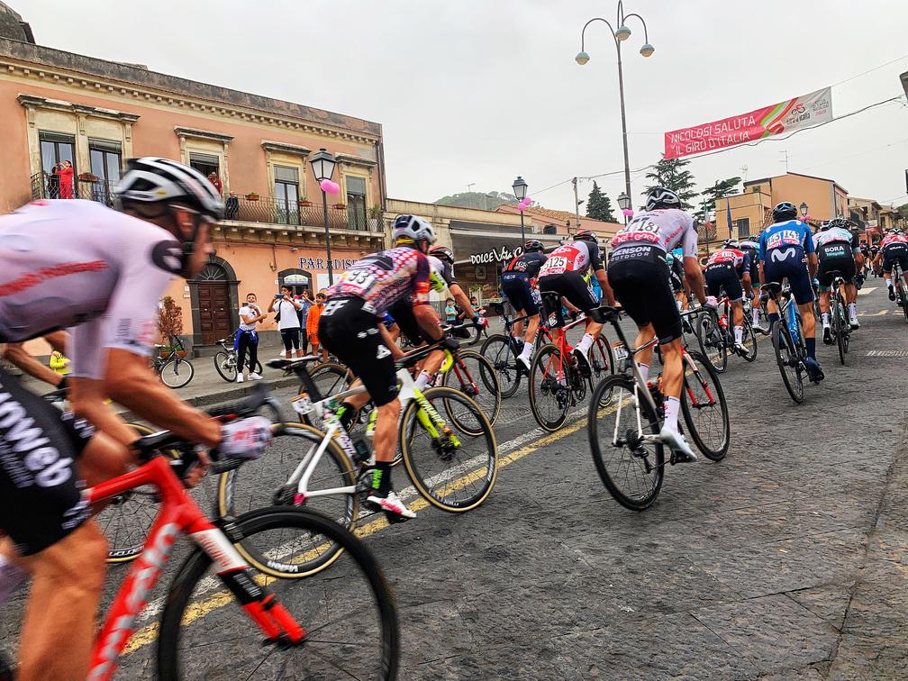 Giro d'Italia - Gruppo Di Ciclisti