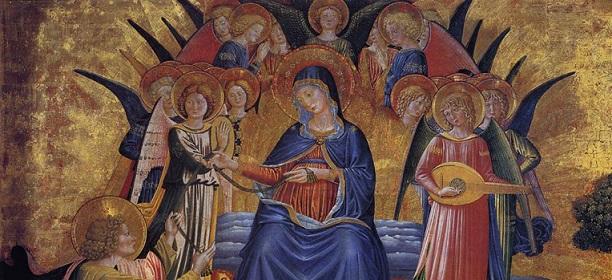 Madonna Della Cintura in un dipinto tra gli angeli