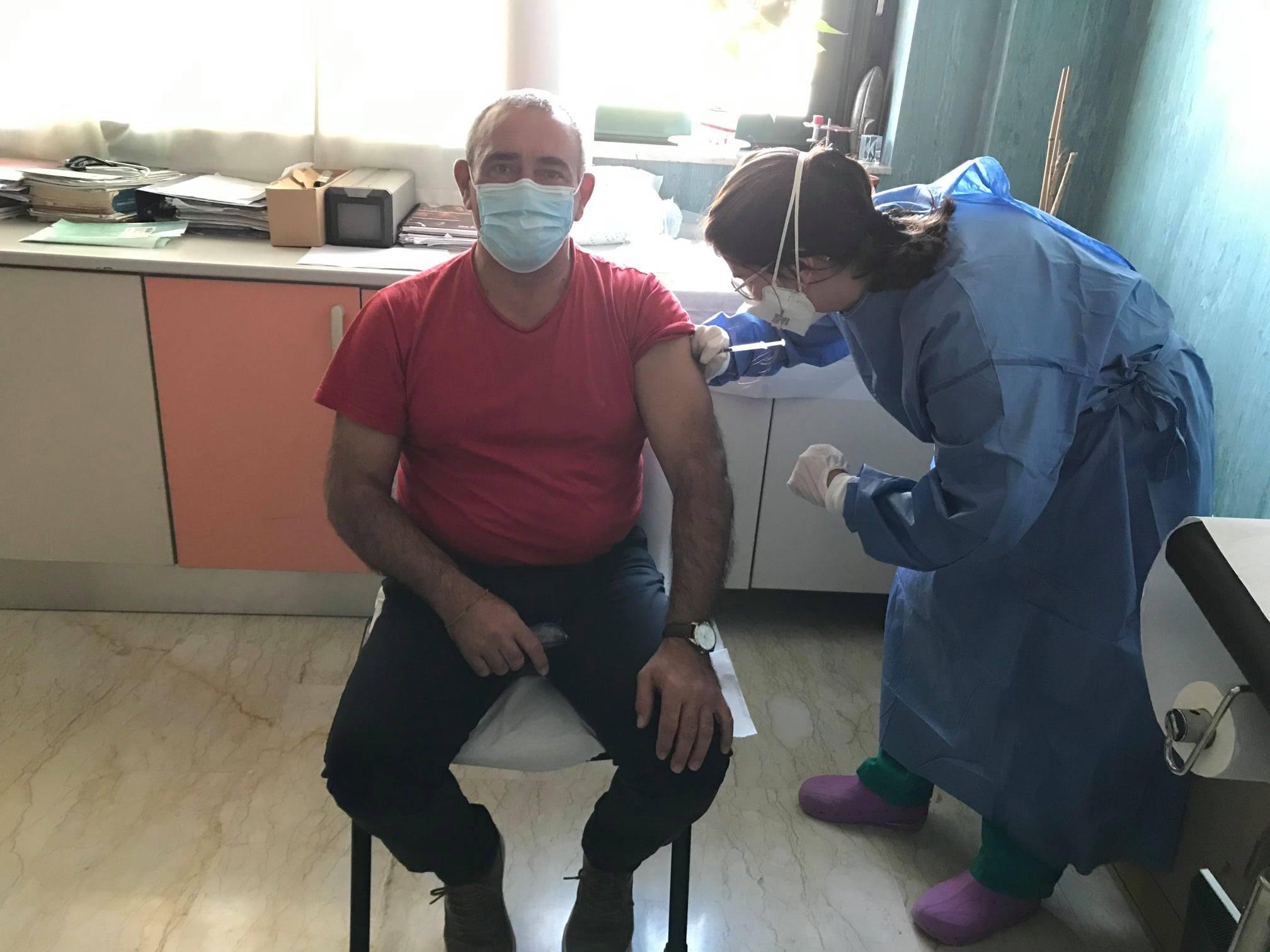 Vaccinazione anti-covid del primo cittadino