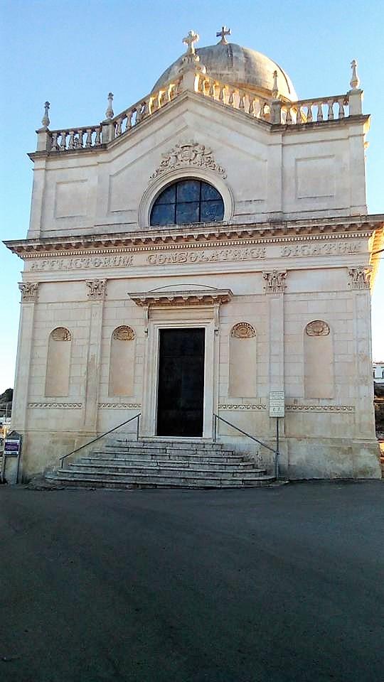 Primo piano della Chiesa Madonna Della Grata Ostuni