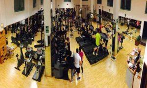 Salus Sport - vista della sala attrezzi dall'alto