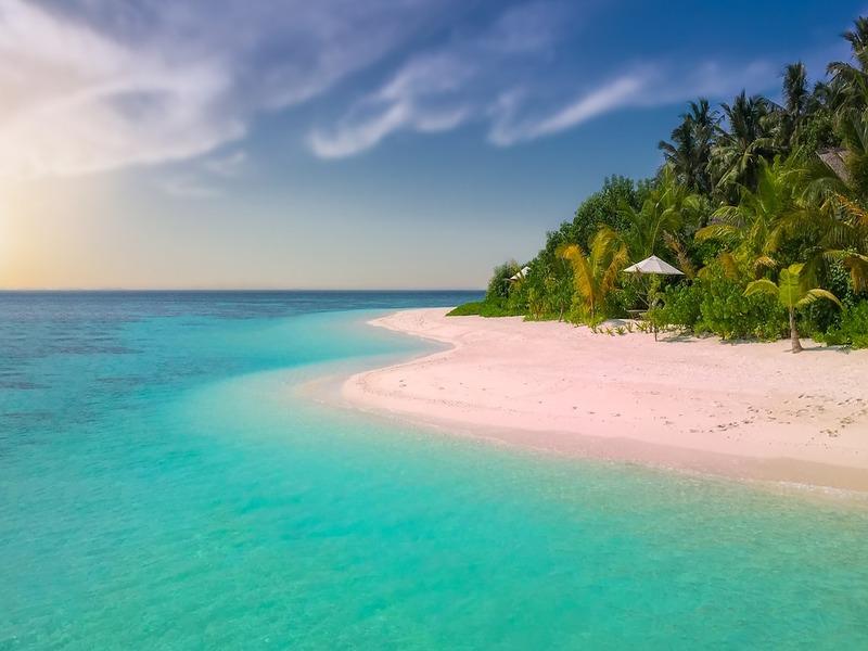 Distesa Di Spiaggia Di Sabbia