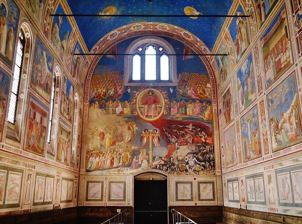Padova Cappella Degli Scrovegni Controfacciata Foto Zairon