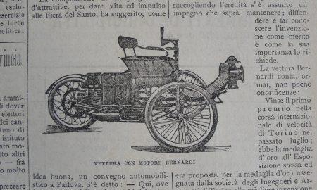 Automobili A Padova La Vettura Bernardi 1899