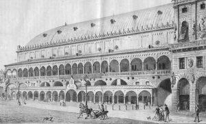 Palazzo Della Ragione In Un Disegno Di Giacomo Manzoni 1869