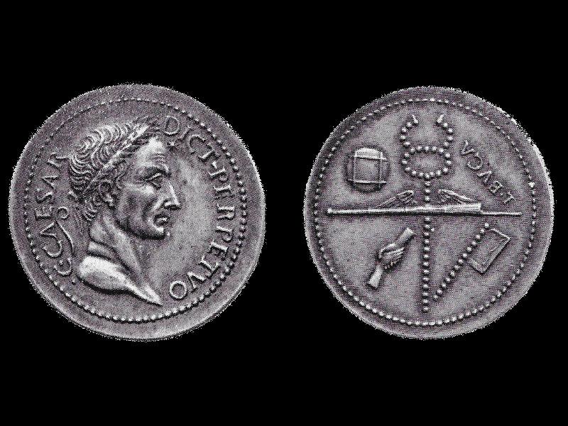 giovanni Da Cavino Sesterzio Di Giulio Cesare.jpg