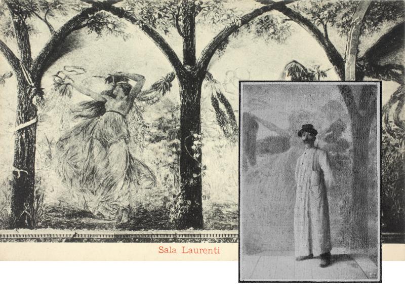 Danzatrici In Sala Laurenti E Lartista Al Lavoro Nel 1905