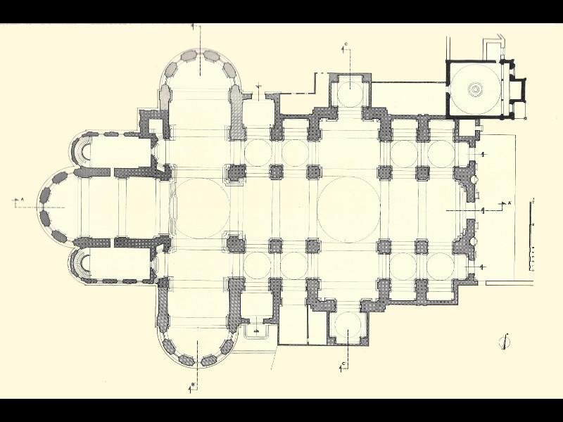 Planimetria Attuale Del Duomo In Alto A Destra Il Battistero