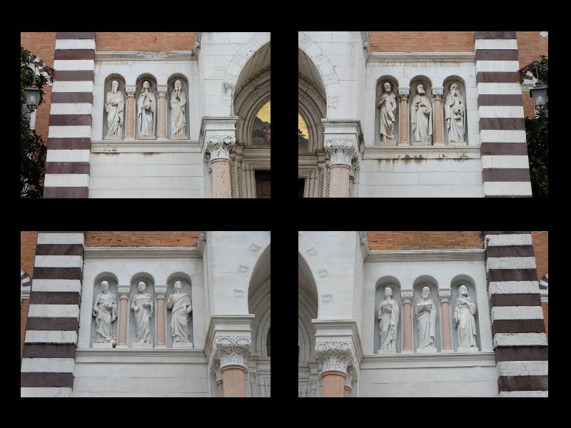 Gli Apostoli Della Facciata Anteriore Sopra E Posteriore Sotto