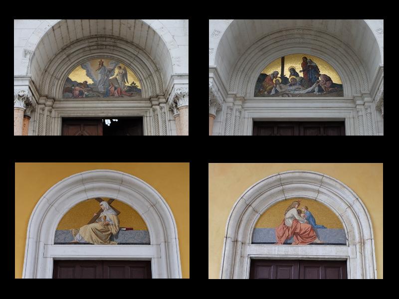 Lunette A Mosaico Della Chiesa del Cimitero Maggiore