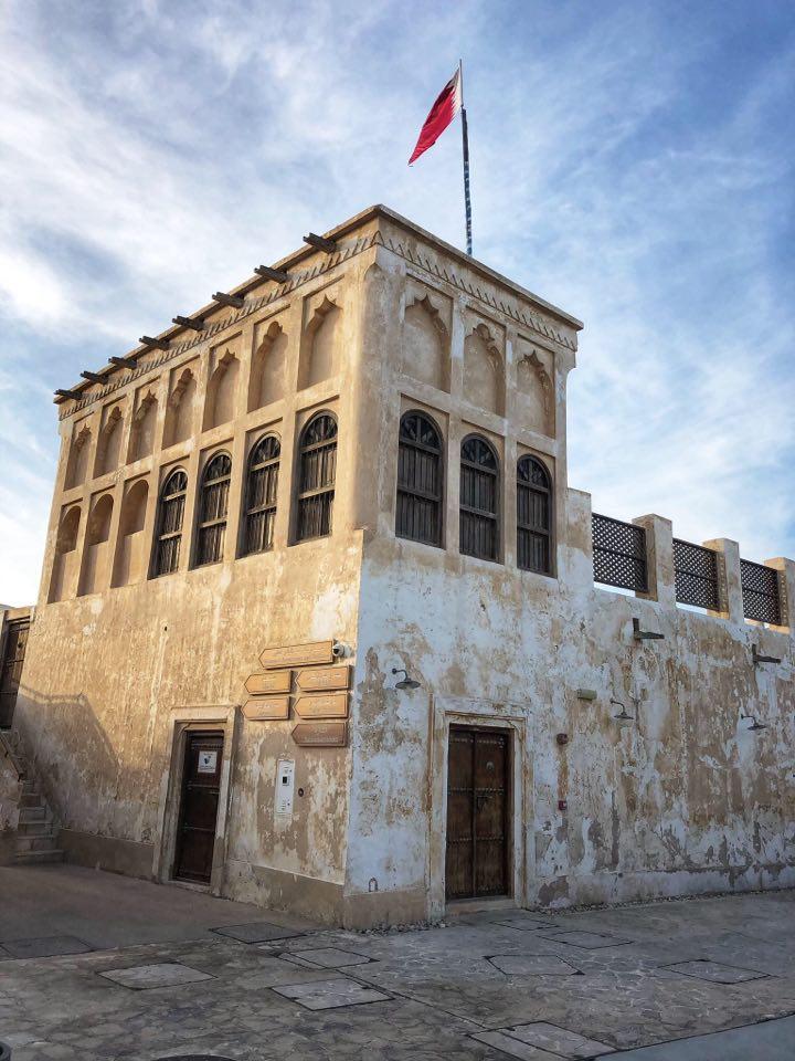 Architettura Tipica Del Qatar, casa con finestre tipiche