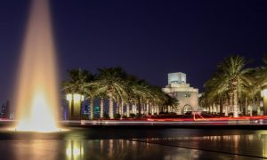 musei - MIA veduta notturna con fontana