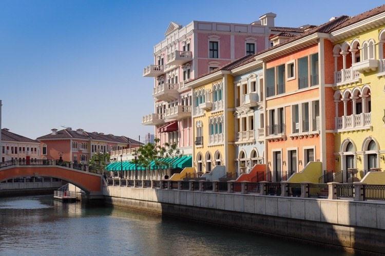 Qanat Quartier, The Pearl, veduta dei canali