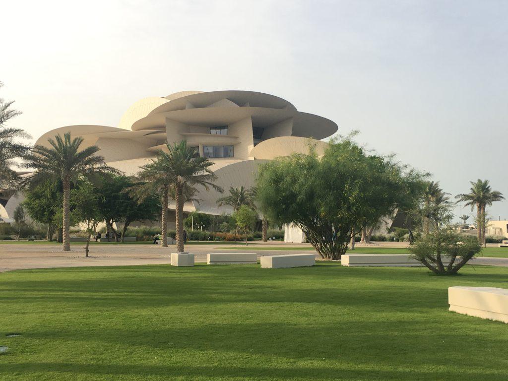 Musei - Qatar National Museum, esterni giardino