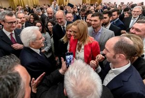Palma Libotte Con il Presidente Mattarella durante la visita in Qatar