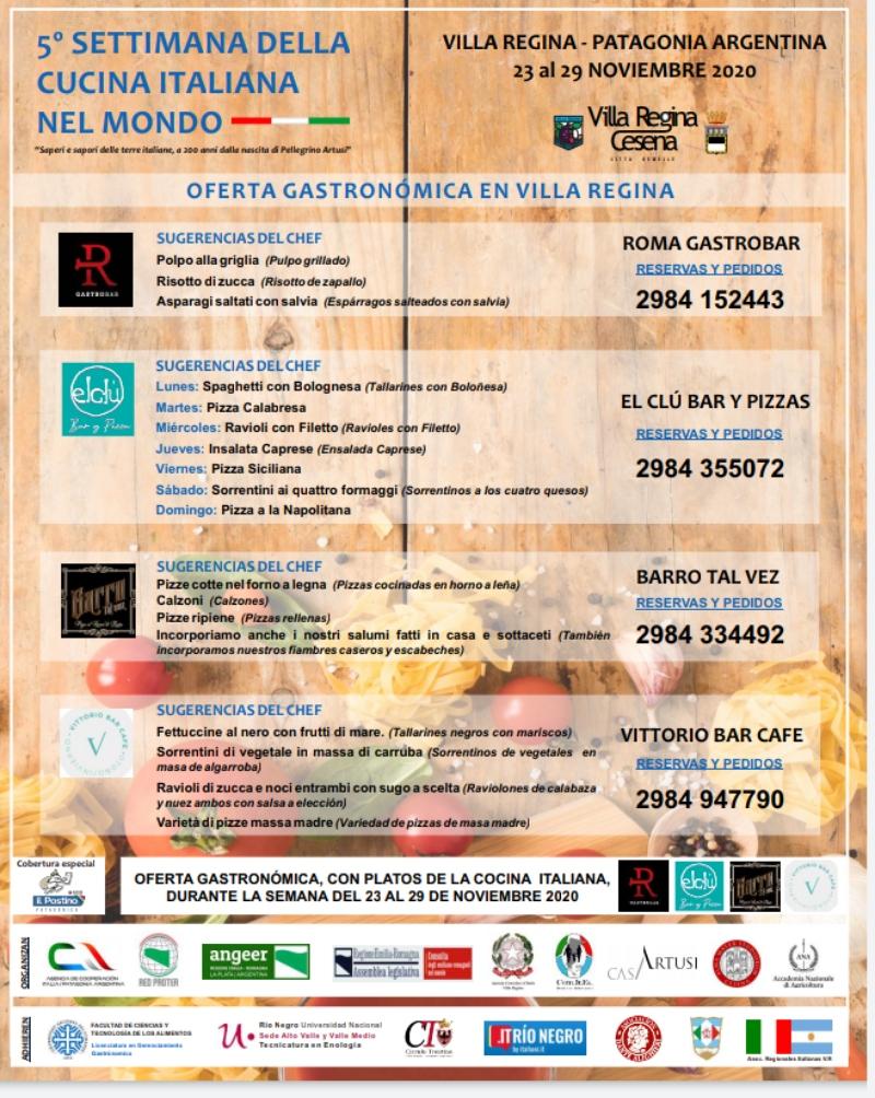 Semana - Menús italianos