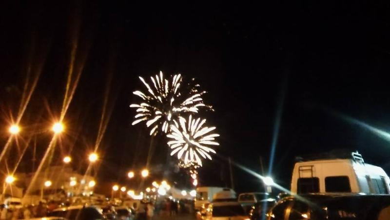 fuegos artificiales - Las Grutas año nuevo