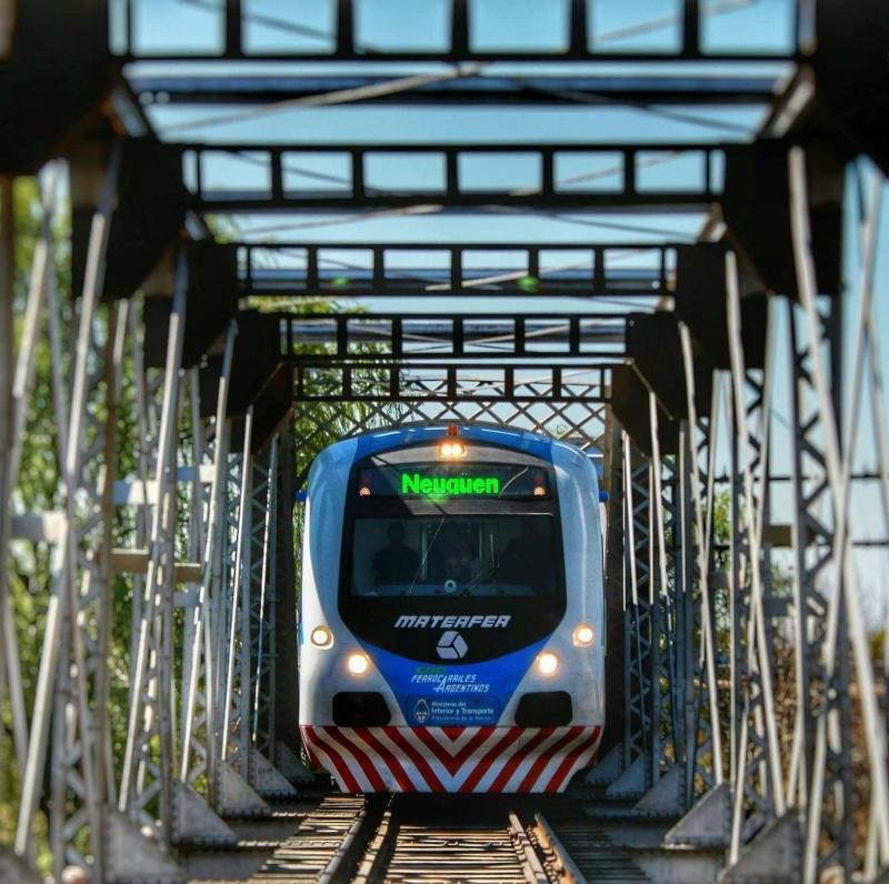 Tren - En el puente