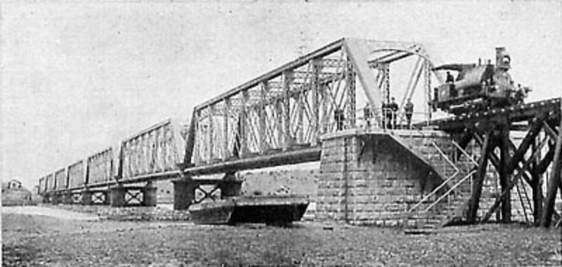 Tren - Construcción del puente