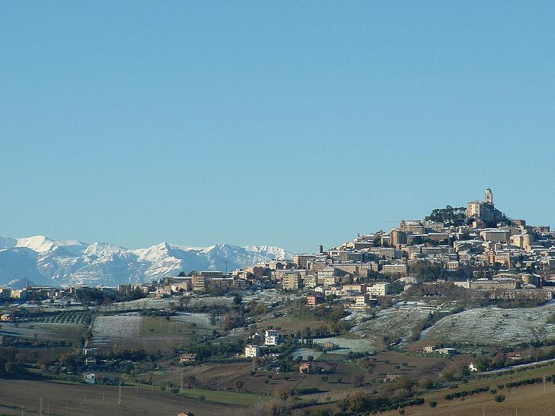 Marchigianos - Tipico paisaje actual de invierno en Marche