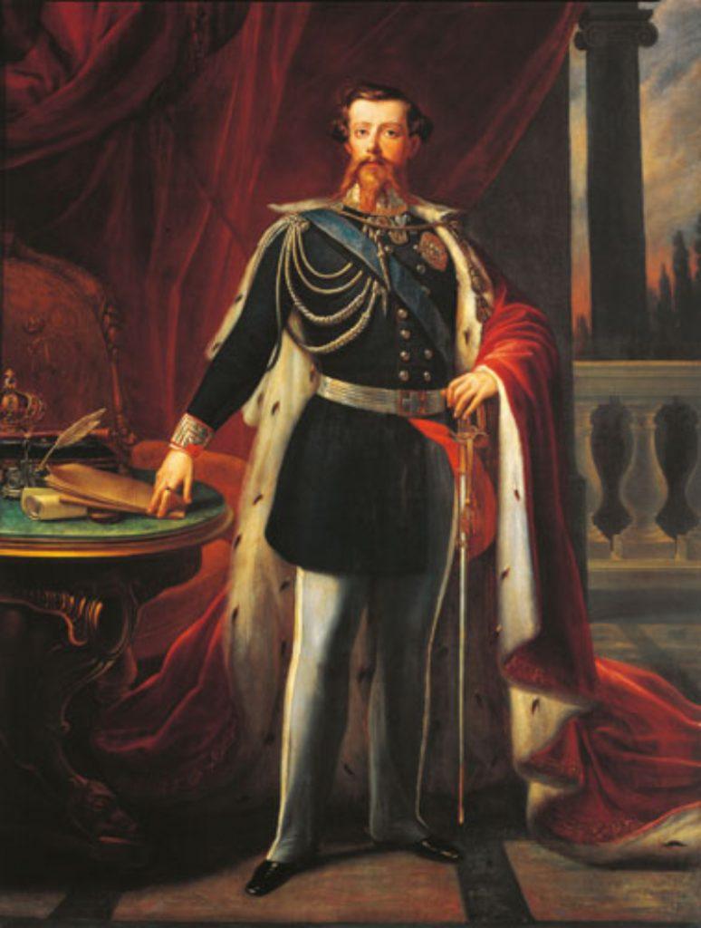 Retrato Del Rey Vittorio Emmanuelle Ii