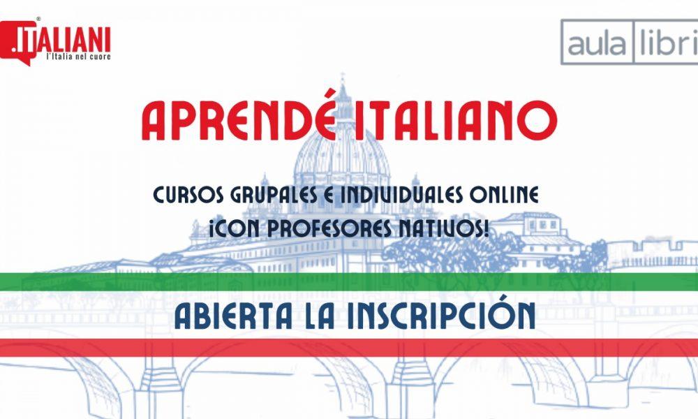 Lengua italiana - Portada cursos Aula Libri