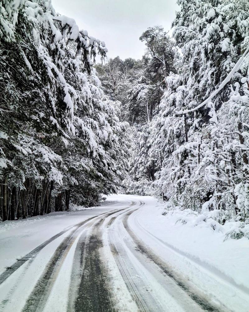 nevadas - caminos complicados por la nieve