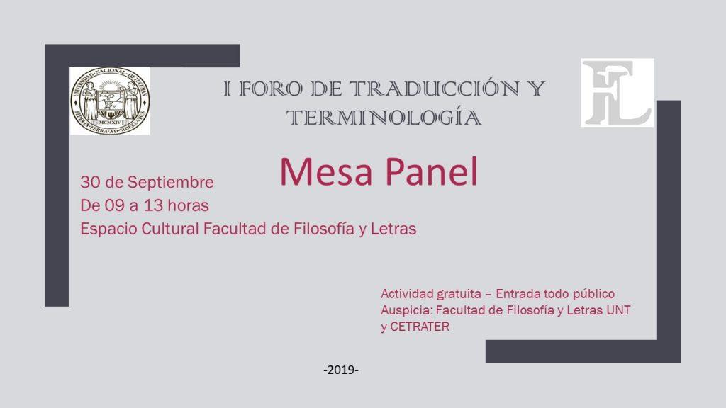 Traducción - I Foro de Traducción y Terminología