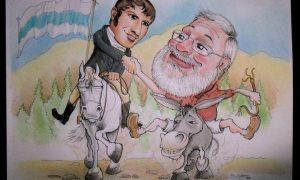 La Batalla de Tucumán - Caricatura de Sebastián Spamer