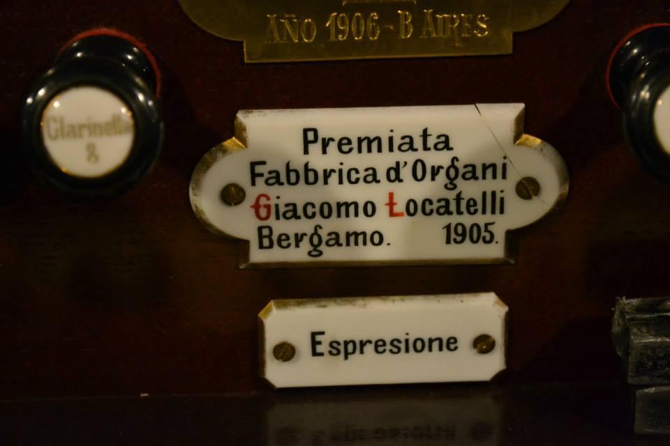 El órgano Locatelli - Placa