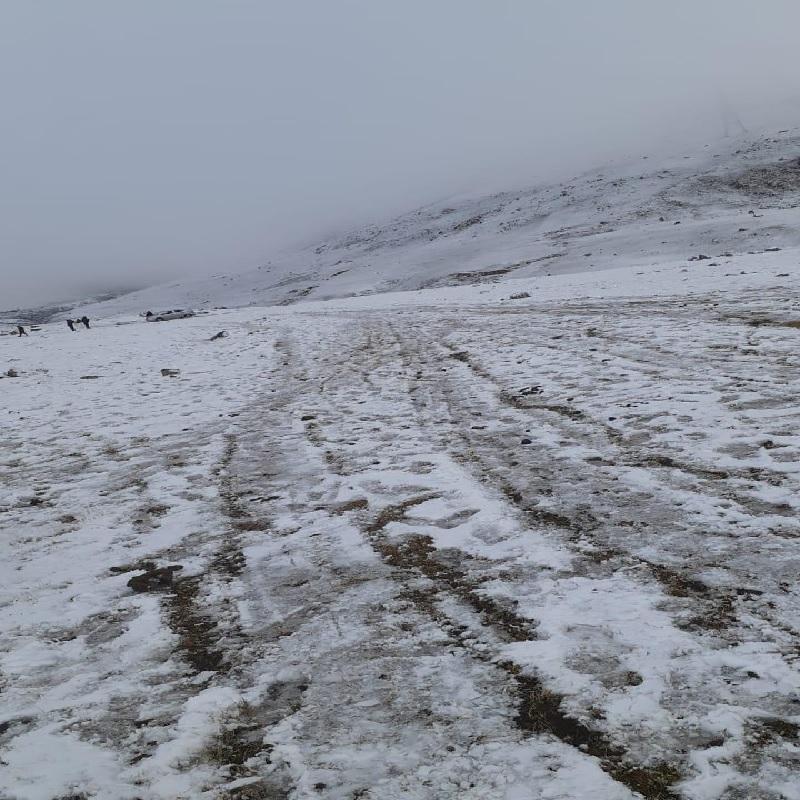 Camino Nevado En Tafi Del Valle