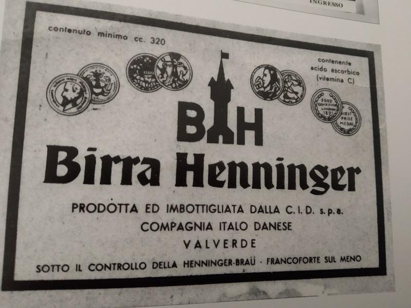Birra Hnninger: manifesto di Pubblicità Foto Valverde in bianco e nero