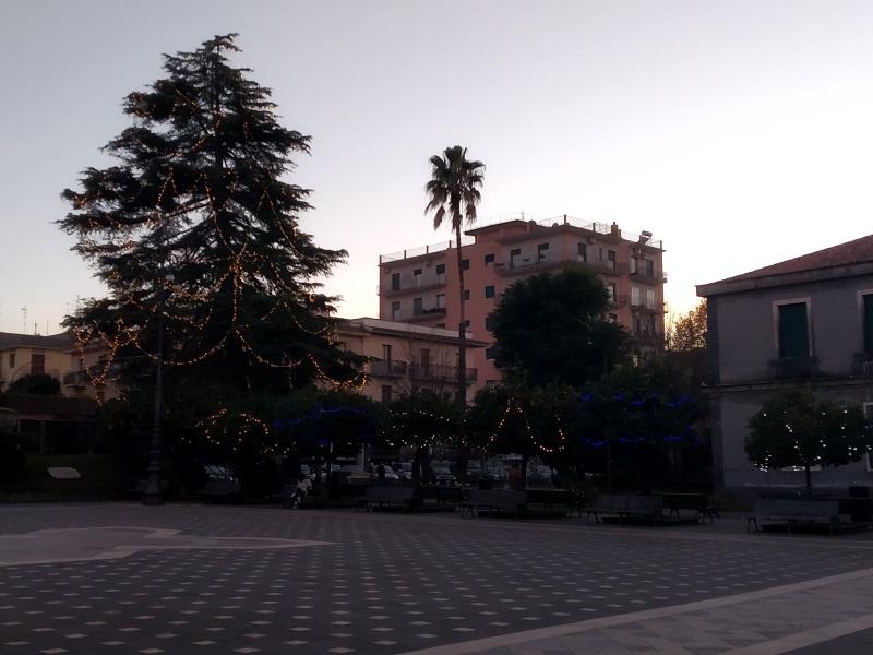2020: La piazza deserta a causa del Covid-19- Foto: Cavaleri Francesca Agata
