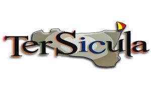 Tersicula: il logo dell'associazione- La Sicilia in griggio su sfondo bianco- Foto: concessione di Tersicula