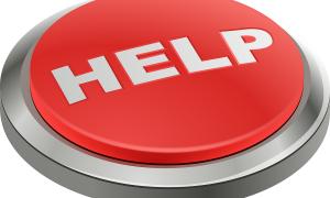 Aiuto psicologico: pulsante rosso con scritta bianca Help - Foto: Pixabay