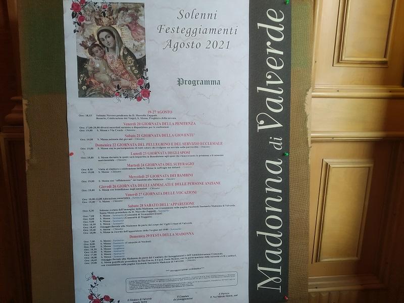 Madonna di Vavlerde: il Programma- foto:Cavaleri FrancescaAgata