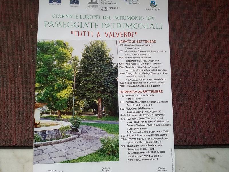 Passeggiate patrimoniali 2021:locandina- Foto: Cavaleri Francesca Agata